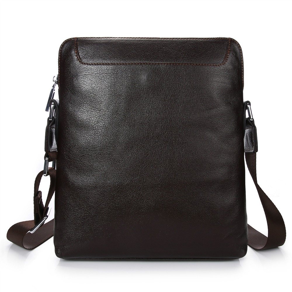 Male bag shoulder bag men Genuine leather handbag first layer of leather Messenger bag Vertical section men business casual bag men s leather oblique cross chest packs of the first layer of leather deer pattern men s shoulder bag korean fashion men s bag