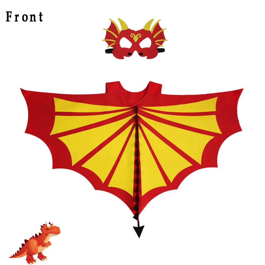 Eriline 120 * 70 cm punane-kollane šarjäär Dino tiibade mask - Kostüümid - Foto 2