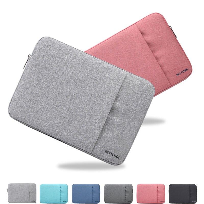 Women Laptop Bag Soild Sleeve bags for Dell XPS 13 Lenovo HP Acer Asus 11 13 14 15 inch Notebook Cover Zipper 15.6 Tablet Case