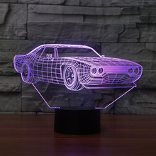 7 Color Change Home Decor Light Fixture LED Car Shape Light USB 3D Luminarias Vehicle Modelling Night Light Baby Sleep Desk Lamp цена в Москве и Питере