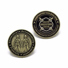 Custom Enamel Firefighters Challenge Souvenir Coin cheap custom metal coins antique bronze 1pcs russia mama coin mother s day gift metal crafts antique bronze plated coins arts souvenir collectibles