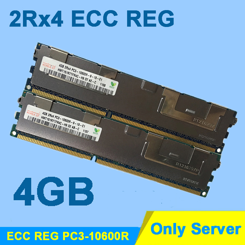 Server Memory High Quality DDR3 1333MHz 4GB PC3-10600R 2Rx4 ECC REG RAM DDR 3 1333 RDIMM memoria 4GB Wholesale
