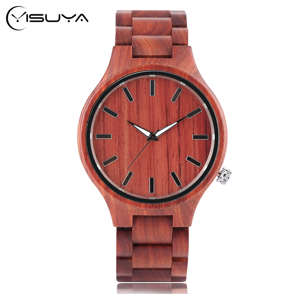 Gift Full Wooden Watches Man Creative Sport Bracelet Analog Nature Bamboo Quartz Wristwatch Male Clock Relogio Masculino