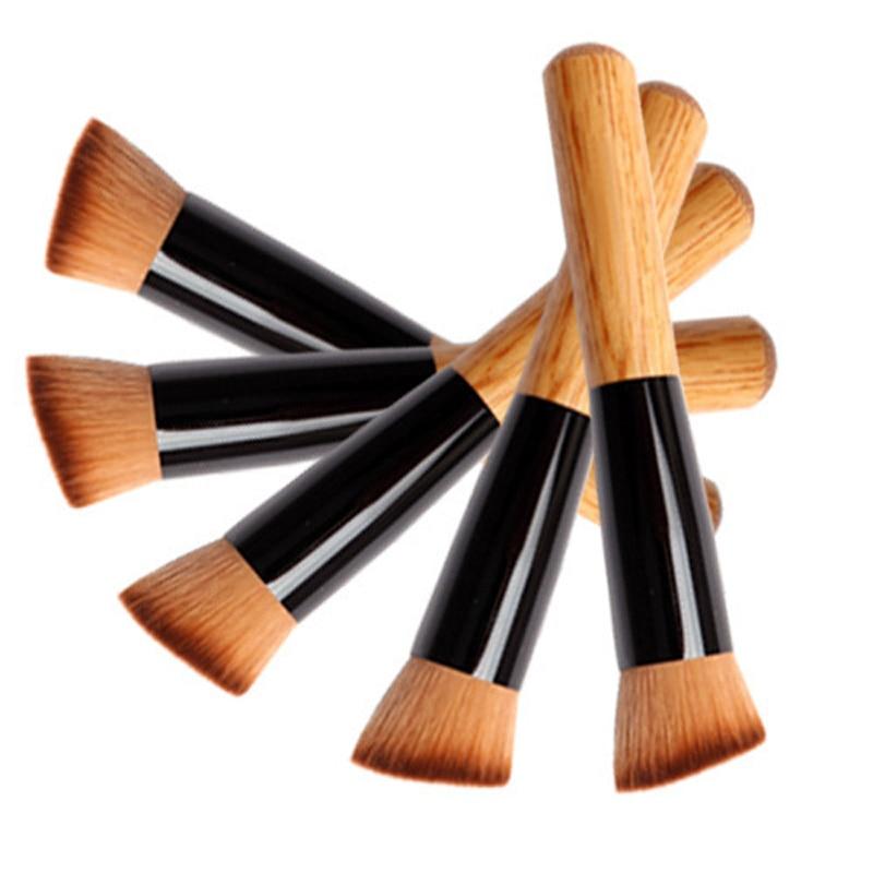купить 1Pcs Professional Makeup Brush Multifunctional Powder Concealer Blush Liquid Foundation Brush Cream Buffing Make Up Wooden Brush недорого