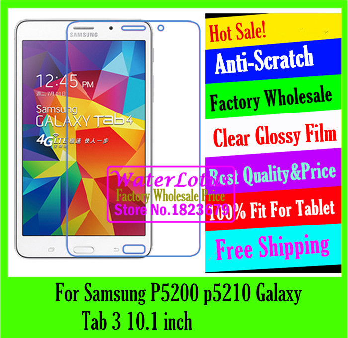 Clear Glossy Computer notebook protective film to plate laptop screen protector For Samsung P5200 p5210 Galaxy Tab 3 10.1 inch