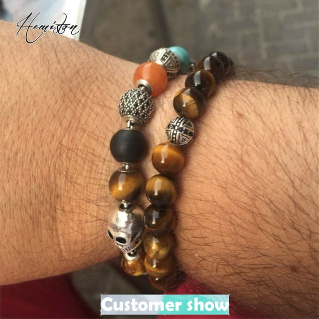 Купить лидер продаж эластичный браслет thomas aaa с бусинами тигровый
