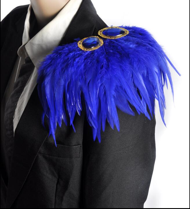 Epaulette feathers Stage accessories Host shoulder flower 10 colour