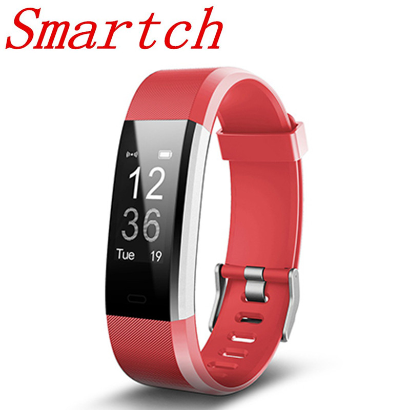 Smartch Bluetooth Intelligente Banda ID115HR PIÙ Frequenza Cardiaca Smart wristband Fitness Tracker Intelligente del braccialetto Indossabile dispositivo