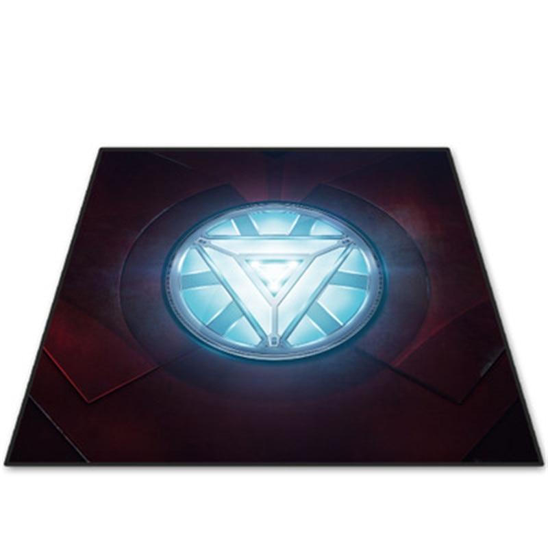 80X80CM Avengers:Infinity War Iron Man Carpet Fashion European Style Male Children Room Skid Resistance Decoration X941