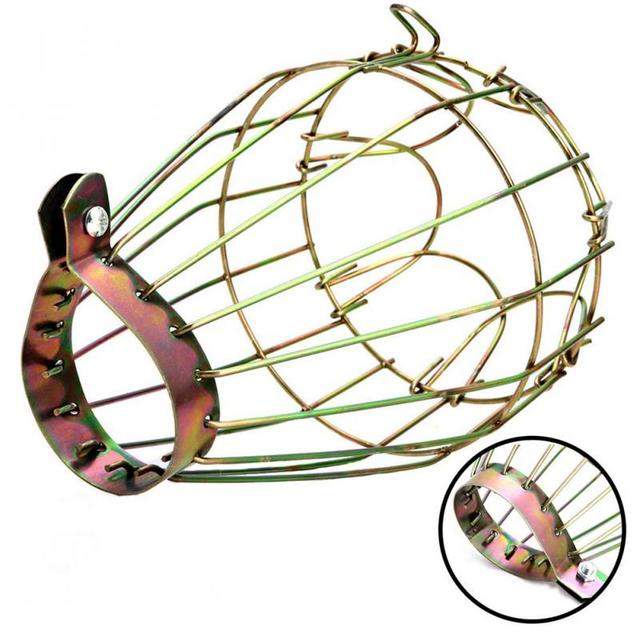 Lamp Covers & Shades Industrial Iron Wire Bulb Guards Clamp Metal Lamp Cage Trouble Light Parts