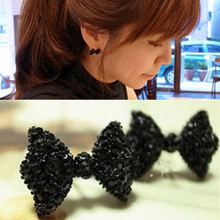 NE423 Hot Sale Vintage Cute Black Bow Knot Stud Earrings For Women Girl Statement Ear Jewelry Exquisite Christmas Gift Wholesale(China)