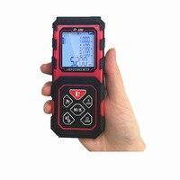 D 100 Mini Hand Held Digital Laser Distance Meters 100M Range Finder With Pythagorean Mode Area