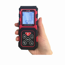 Cheap price D-100 Mini Hand Held Digital Laser Distance Meters 100M Range Finder With Pythagorean Mode, Area & Volume Calculation