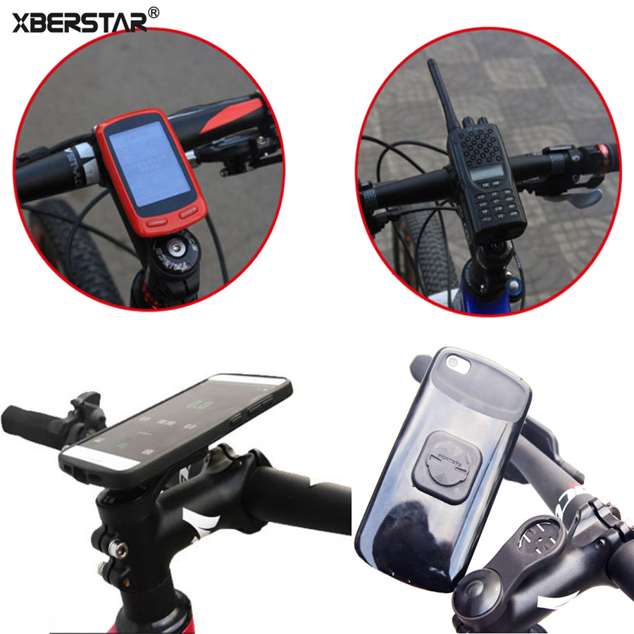 Universal 28.6mm Mountain/Road Bicycle Bike Mount Holder For Garmin Edge GPS Computer+ Phone /Walkie-talkie Stick Adapter Holder