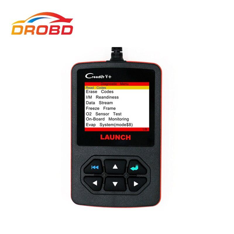 100% Original Launch X431 Creader V+ Diagnostic-Tool Generic OBDII Code Reader Scanner Update Online launch x431 obd2 automotive diagnostic scanner obd2 bluetooth adpater mdiag elm327 update online enhanced code reader