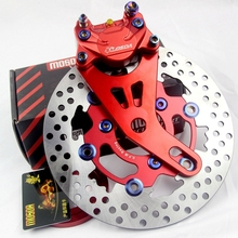 Universal Motorcycle modification Rear CNC Caliper Brake Calipers+220mm Disc Disks Pump big crabs calip