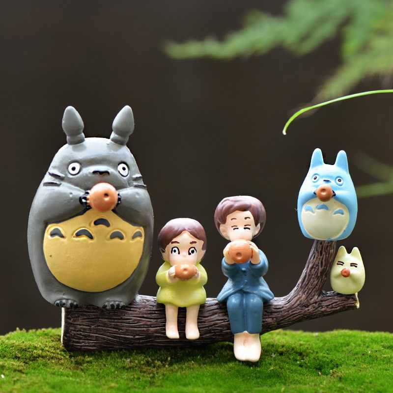 1Pcs Blowjob Totoro Cute DIY Resin Fairy Garden Craft Decoration Miniature Micro Gnome Terrarium Gift