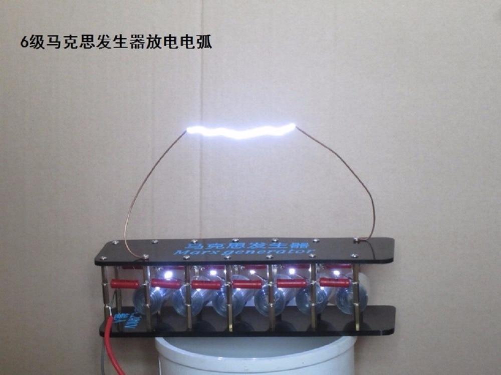 Finished Assembled board 6grades Marx/impulse voltage/pulse high voltage generator/Tesla coil free shipping free shipping 10pcs bu406 7a 200v high voltage switch transistor