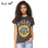Kiss Me Guns N Roses T Shirts Women Tops Summer 2017 Short Sleeve Tee Shirt Femme