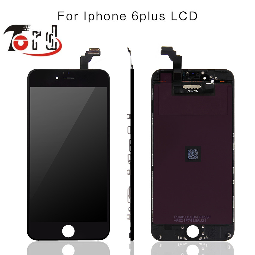 A +++ no dead pixel Original Glass Touch Screen Digitizer & LCD Assembly Replacement For iPhone 6 Plus & Free DHL 10pcs