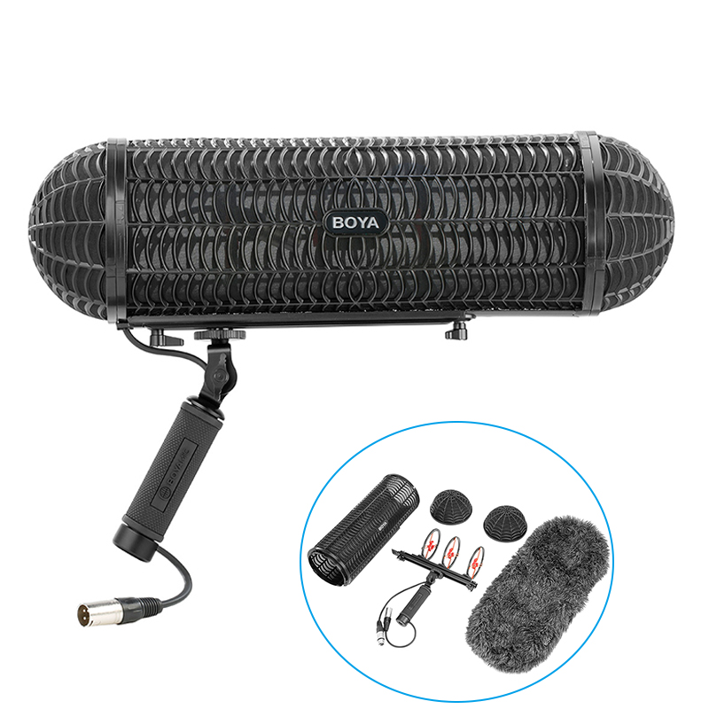Boya Microphone Blimp Windshield Suspension System Windscreen Wind Spider with Rycote Shock Mount for Shotgun Microphones