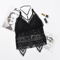 Summer Women Camisole Push Up Wireless Lace Bralette Top Women Lace Embroidered Underwear Camisoles
