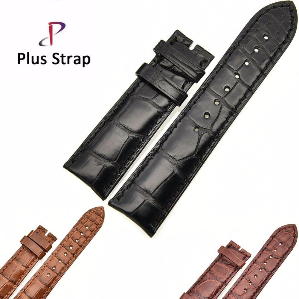 Plus Strap 22mm Watch Band Strap Replacement Alligator Skin Genuine Leather Men Bracelet Wristband no BucklePlus Strap 22mm Watch Band Strap Replacement Alligator Skin Genuine Leather Men Bracelet Wristband no Buckle