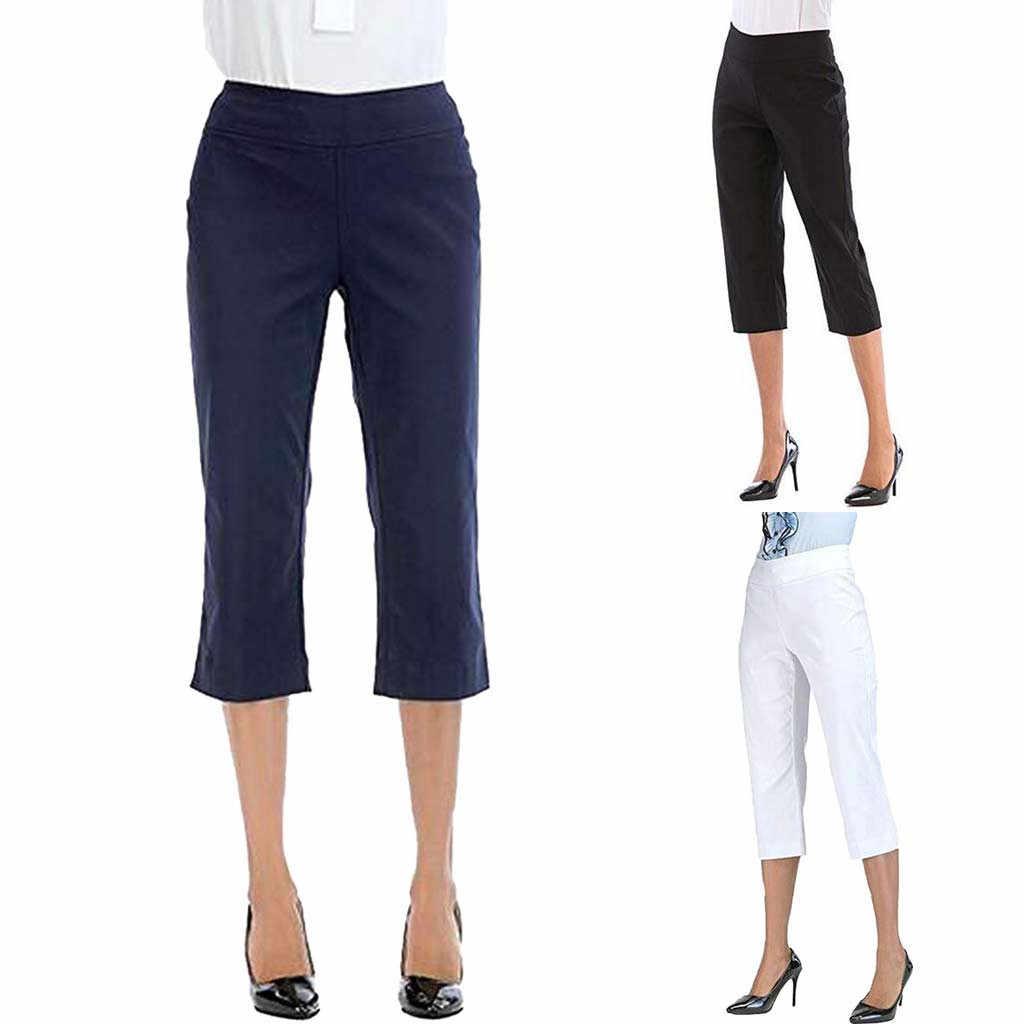 SAGACE Gevşek Kadın Pantolon Konfor Düz Bacak Boot Cut Skinny Pantolon Capri Karın Kontrol Pantolon kadın pantolon kadınlar için pantolon