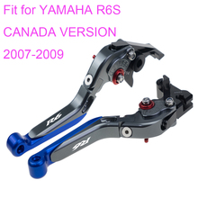 KODASKIN Left and Right  Folding Extendable Brake Clutch Levers for YAMAHA R6S CANADA VERSION 2007-2009