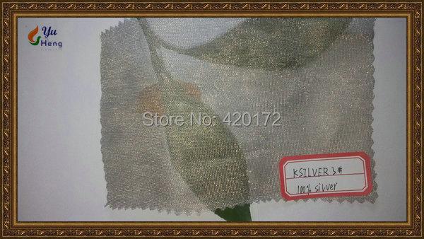 100% Silver Fiber Stickade Fabrics 100% Silver Fiber Tunn Strikk - Konst, hantverk och sömnad