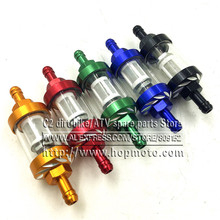 CNC Universal Gas Fuel Filters Scooter Go Kart 92mm X 8mm oil filter dirt/pit bike motorcycle motocross ATV Quad Aluminum alloy