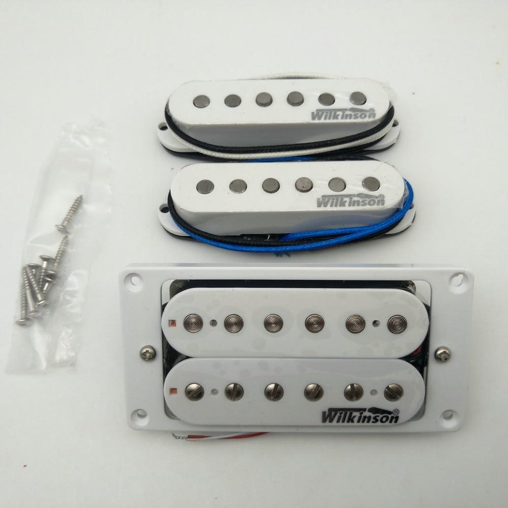 Wilkinson Alnico5 Pickups SSH Style Eleciric Guitar Pickups N M B White 1 Set