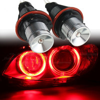 2X 6W Canbus Error Free Angel Eyes Halo Ring Marker Light Lamp Bulb DRL For BMW