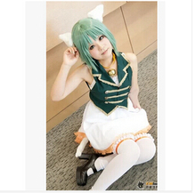Anime hot selling vocaloid miku Gumi cosplay costume dress party lolita punk cat set
