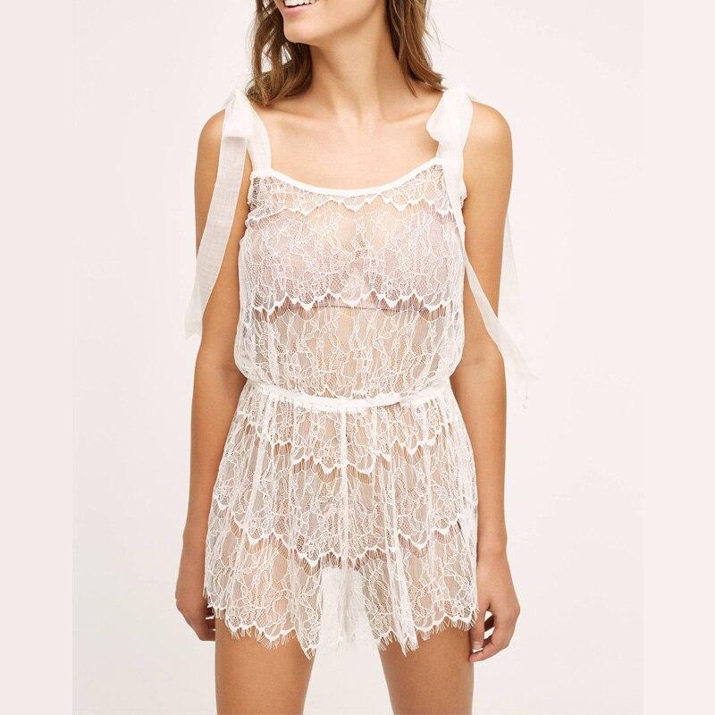 Ruffled მაქმანი Romper Boudoir საქორწილო ქალის თეთრეული კომფორტული საძინებელი Pjs Ultimate Nightie Cami Set