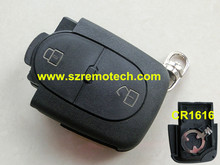 Free Shipping Replacement 2 Button Remote key Fob Cover Fit For Audi A2 A3 A4 A6 A8 TT CR1616 Battery Clamp