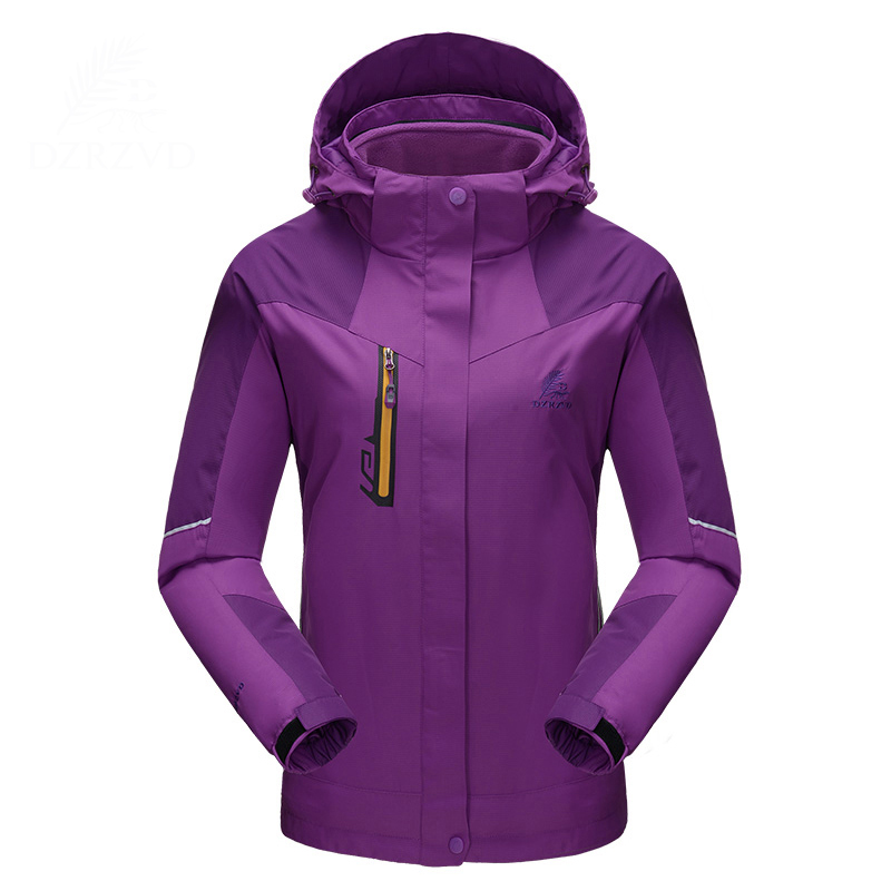 2017 Outdoor Sport Leisure Warm With Fleece Liner Jaqueta Feminina Windbreaker Hiking Ski Winter Jacket Women Waterproof Coat in yeson brand winter outdoor windbreaker for lovers waterproof thick thermal fleece liner ski hunting hiking jacket men women