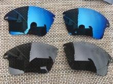 2 pares azul marino y Negro polarizado lentes lente para Fast Jacket XL  gafas de sol 71f5e5d917