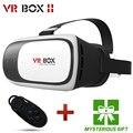 Hot caixa de realidade virtual vr ii 2.0 3d óculos google papelão vr vr fone de ouvido do capacete para 3.5-6.0 'smart controlador de telefone + bluetooth