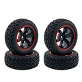 4PCS High Quality 1:10 Rally Car Wheel Rim and Tire for 1/10 Traxxas Tamiya HSP HPI Kyosho 4WD RC On Road Car