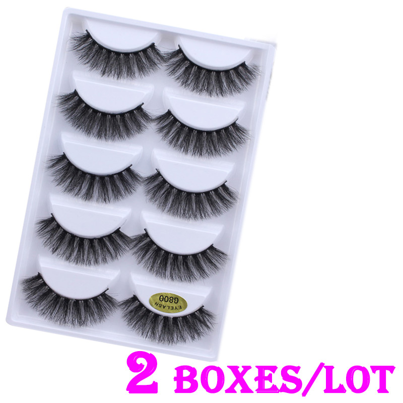 cf8460f3db1 10 pairs/lot Long Wispy Lashes Thick Dramatic Real 3D False Mink Eyelashes  Cruelty Free Reusable For Glamorous Make Up
