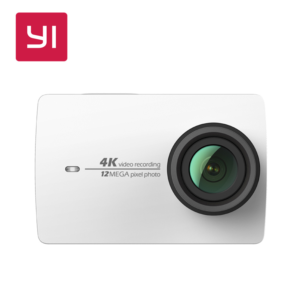 YI 4K Action Camera White Mini Sports Camera 2.19LCD Screen Ambarella 12MP CMOS EIS Wifi 155 degree International Version Model yi 4k action camera black 2 19lcd screen 155 degree eis wifi international edition ambarella a9se75 12mp cmos 5ghz wi fi