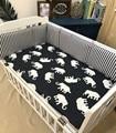 Patrón de Elefante de Dibujos Animados de algodón Bebé Bumpers Bebé Cuna Parachoques Anticolisión Transpirable ropa de Cama de Bebé 4 Colores