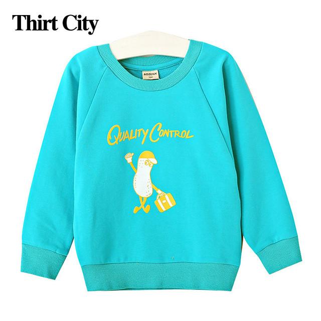 De la nueva historieta 100% del algodón del bebé niños bebé clothing sudadera primavera y el otoño de los niños muchachas de los muchachos camisa de manga larga