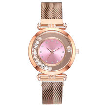 Luxury fashion dazzling diamond Women Magnet Buckle Rhinestone Watch Ladies Stai