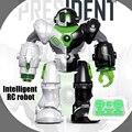 Все новые интеллектуальный пульт дистанционного управления роботом игрушки RC танцы Вращающийся световой Детские игрушки образование игрушки Дети Рождественские подарки