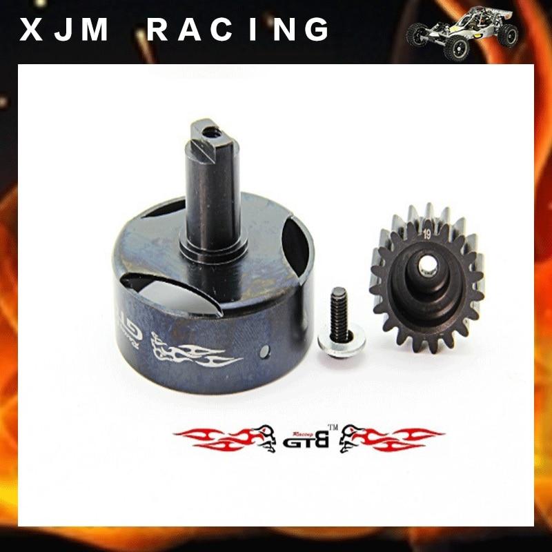 все цены на Metal clutch cup +19 T Gear Set for 1/5 losi 5ive-T rovan LT king motor X2 rc car parts онлайн