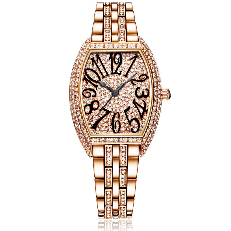 Relogio Feminino Rose Gold Watches Woman Quartz Watch Ladies Steel Bracelet Waterproof Watch Top Brand Luxury Clock Full Diamond kimio diamond rhinestone rose gold bracelet womens watch fashion woman watches 2017 brand luxury quartz watch ladies wristwatch
