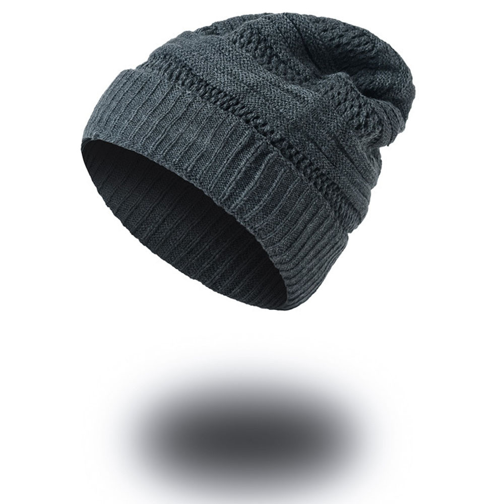 Mens Causal Warm Winter Knit Baggy Beanie Hat Ski Slouchy Head Cap Male Fashion Hot Sale Warm Soft Skullies Beanies Knitted Hats winter casual cotton knit hats for women men baggy beanie hat crochet slouchy oversized ski cap warm skullies toucas gorros 448e