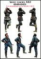 Os Kits de resina 1/35 Escala soviética investigação soldado Resina Modelo Frete Grátis